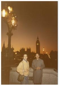 宮本亜門氏とお父さんロンドンにて