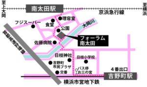 男女共同参画センター横浜南(フォーラム南太田)地図